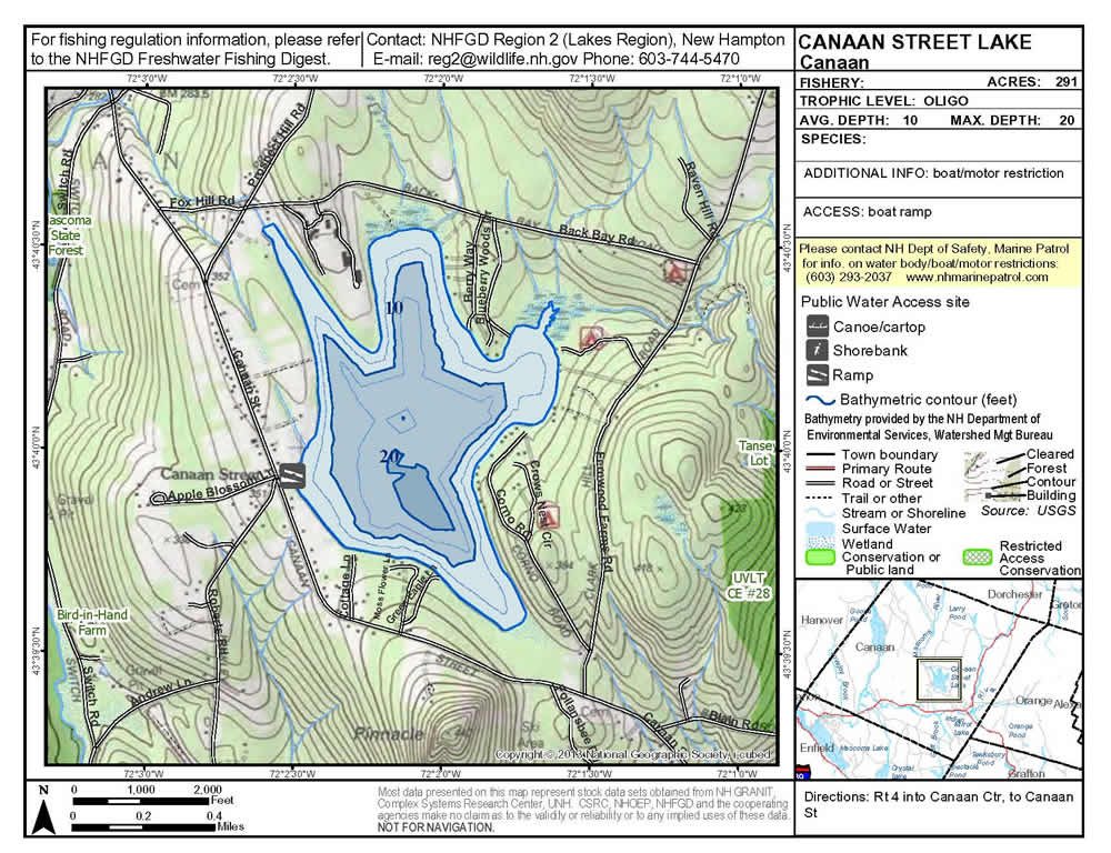 topographic map of lake